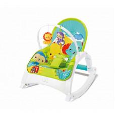 Дитячий шезлонг-гойдалка 2 в 1 FitchBaby 88954, зелений, звук, вібрація