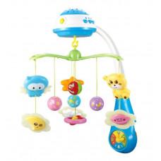 """Карусель на ліжечко Limo Toy """"Зоряні сни"""", музика, проектор, підвіски 7 штук, HB 0015"""
