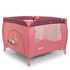 Манеж El Camino, Arena Rose Len, переносний, 99 * 99 * 75 см, ME 1030, рожевий