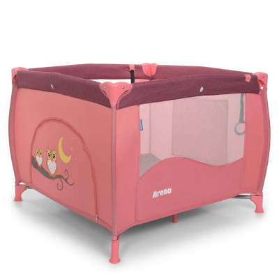 Манеж El Camino, Arena Rose Len, переносний, 99 * 99 * 75 см, рожевий (1030)