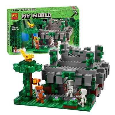 """Конструктор Bela Minecraft """"Храм в джунглях"""", 604 детали, аналог Lego 21132 (10623)"""