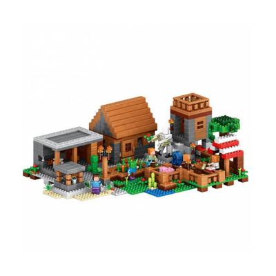 Детский конструктор Lepin Minecraft Деревня 1106 деталей (18010)