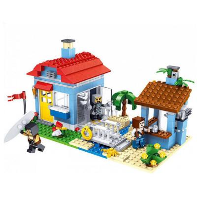 """Детский конструктор Lele Minecraft """"Домик у озера 3 в 1"""" 470 деталей (33019)"""