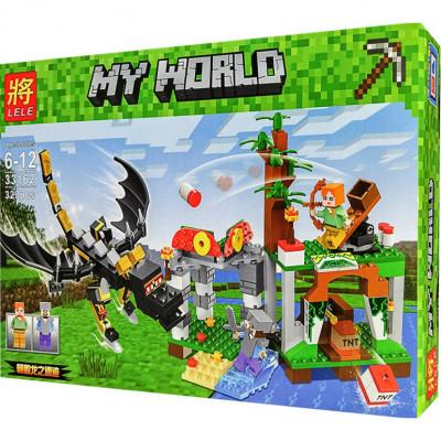 Детский конструктор Lele Майнкрафт Нападение дракона 323 детали (33162)