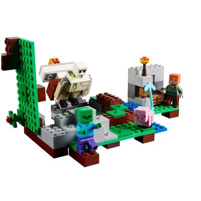 Детский конструктор Lele Minecraft Железный Голем 220 деталей, аналог Lego 21123 (79280)