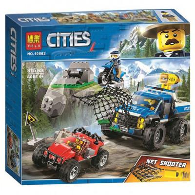 Детский конструктор Bela Cities Погоня по грунтовой дороге 315 деталей (10862)