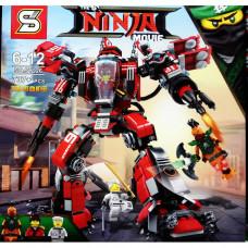 Конструктор Ninja Movie Огненный робот Кая SY926