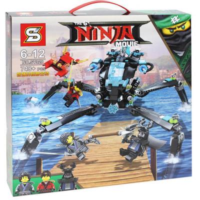 """Детский конструктор Ninja Movie """"Водяной робот"""" 749 деталей (SY928)"""