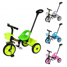 Велосипед трехколесный Tilly Motion T-320 с корзиной и родительской ручкой