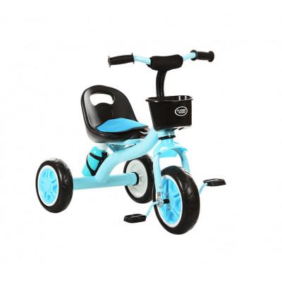 Детский трехколесный велосипед Turbo Trike, Blue, с корзинкой и бутылочкой (M 3197-4)