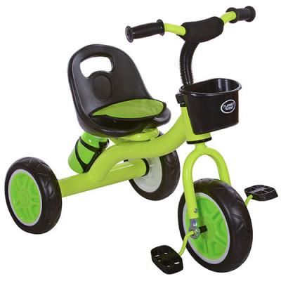 Детский трехколесный велосипед Turbo Trike, Green, с корзинкой и бутылочкой (M 3197-5)