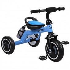 Велосипед триколісний, M 3648-4, три кол.EVA, пляшка, наклад.на сид, ручка-переноска, блакитний