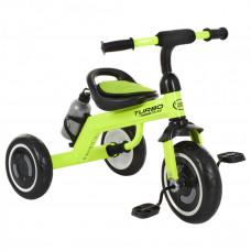 Велосипед трехколесный, M 3648-5, три кол.EVA,бутылка, наклад.на сид, ручка-переноска, салатовый