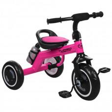 Велосипед триколісний, M 3648-6, три кол.EVA, пляшка, наклад.на сид, ручка-переноска, малиновий