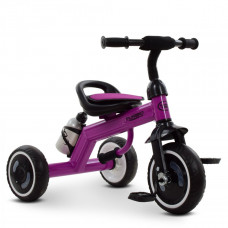 Велосипед трехколесный, M 3648-9, три кол.EVA,бутылка,наклад.на сид, ручка-переноска, фиолетовый