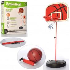 Баскетбольне кільце, MR 0333, на стійці 201 см, сітка, щит 47-33 см, м'яч, насос