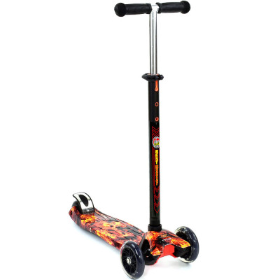 Детский самокат Best Scooter Maxi Черный с оранжевым (1310)