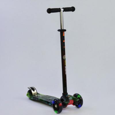 Детский самокат Best Scooter Maxi Черный с зеленым (1317)