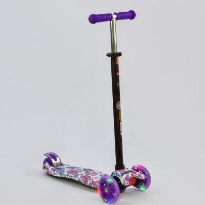 Детский самокат Best Scooter Maxi Фиолетовый Цветы (1319)