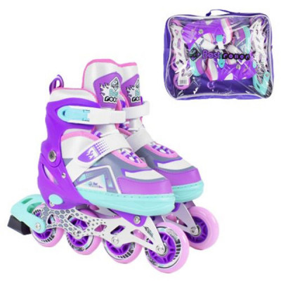 Детские раздвижные ролики Best Roller (М 34-37, Фиолетовый)