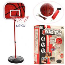 Баскетбольное кольцо M 2995, стойка, сетка, надувной мяч, насос, высота 1,39 м