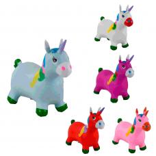 """Детская лошадка прыгун резиновая """"Ослик"""", 5 видов"""