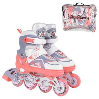 Детские раздвижные ролики Best Roller S 30-33, Коралловый