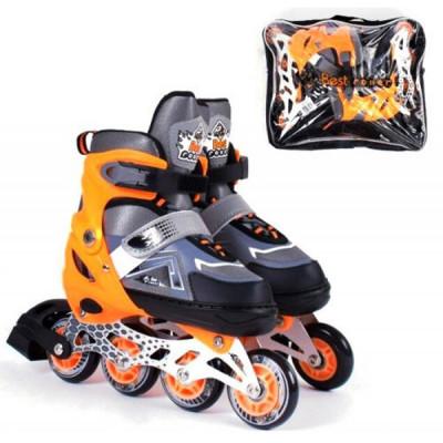 Детские раздвижные ролики Best Roller S 30-33, Оранжевый