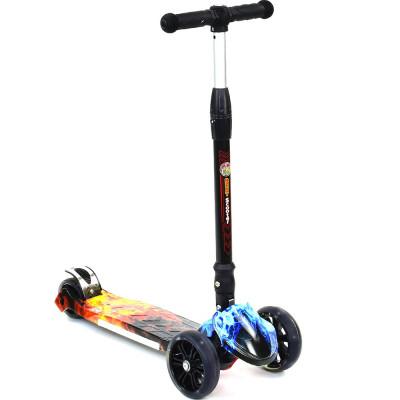 Детский 3-х колесный самокат Best Scooter светящиеся колеса (7202)