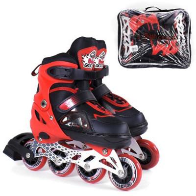 Детские раздвижные ролики Best Roller М 34-37, Красный