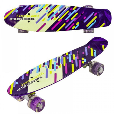 Скейт Penny board доска-55см, со светящимися колесами (F 9797)