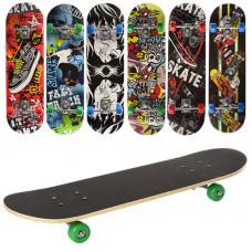 Скейт Profi MS 0354-2 деревянный 70.5х20 см алюминиевая подвеска