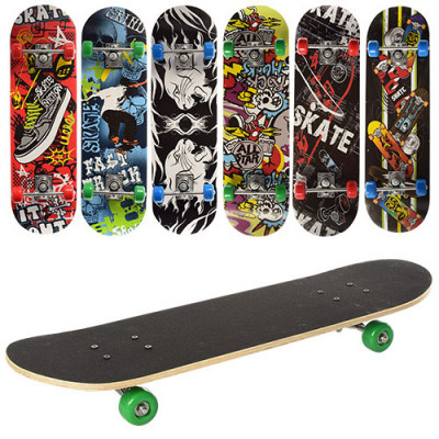 Детский скейт Profi деревянный 70.5х20 см алюминиевая подвеска (MS 0354-2)