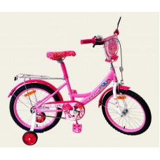 Велосипед 2-х колесный 16'' 161603 со звонком,зеркалом, ручной тормоз