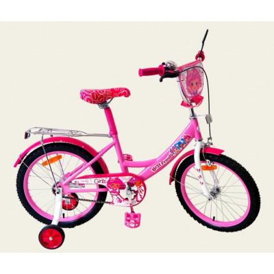 Велосипед 2-х колесный Best Friend Pink звонок, зеркало, ручной тормоз (161603)
