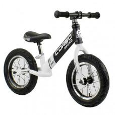 """Беговел - велобег Corso 12"""" (Черный с белым)"""