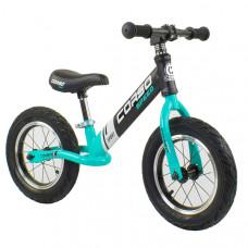 """Беговел - велобег Corso 12"""" (Черный с голубым)"""