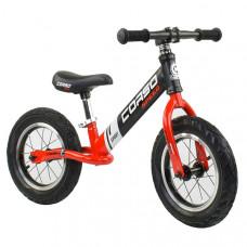 """Беговел - велобег Corso 12"""" (Черный с красным)"""