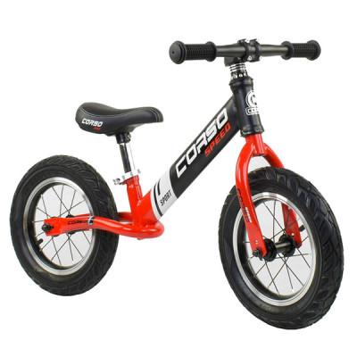 """Беговел - велобег Corso 12"""" Черный с красным"""