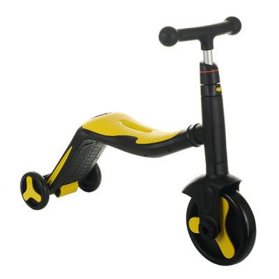 Детский велосипед - самокат 3 в1 Best Scooter (Черно-желтый, SC20110)