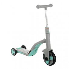 Детский велосипед - самокат 3 в1 Best Scooter (Серо-бирюзовый, SC20112)