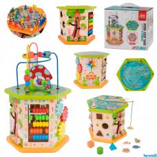 """Дерев'яний логічний куб """"Fun Game"""" в коробці"""