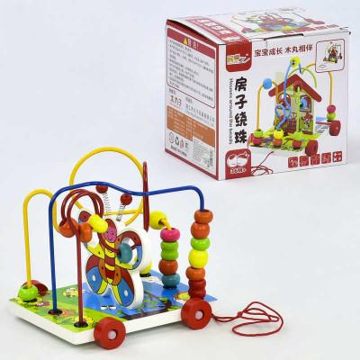 Деревянная игрушка каталка Пальчиковый лабиринт (С 31341)