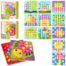 Детская мозаика Button Idea Цветная фантазия 12 вкладышей (M9A)