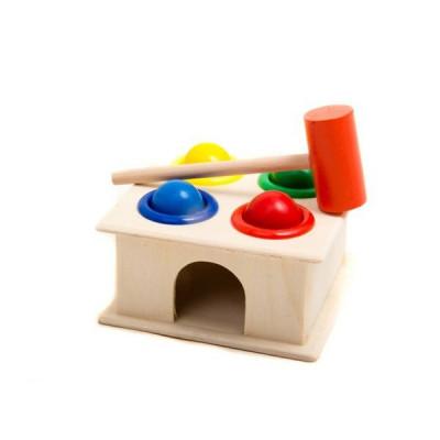 Деревянная игрушка стучалка квадрат (MD 0408)