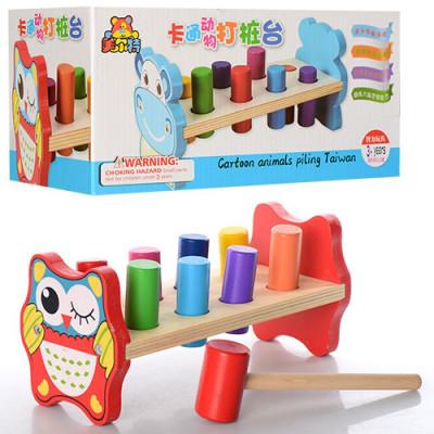 Деревянная игрушка Стучалка-забивалка Гвозди (MD 0911)