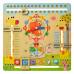 Деревянная игрушка Игра часы, календарь природы (MD 2063)