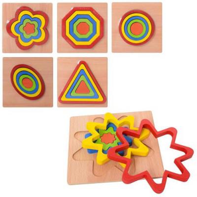 Деревянная игрушка Рамка-вкладыш (MD 2090)