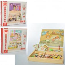 Деревянная игрушка Гардероб магнитная доска MD 1337