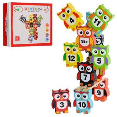 Деревянная игра Балансир Совы с цифрами (MD 2954)